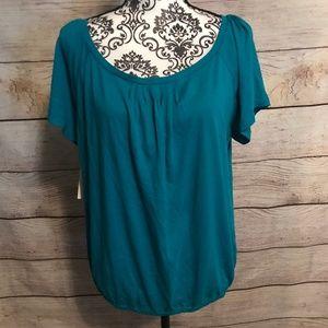 3/$20 NWT NY & Company Size XL Teal Knit Top